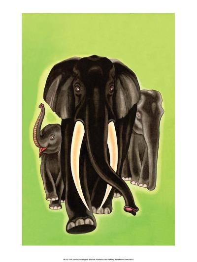 Art Deco Elephant-Frank Mcintosh-Art Print