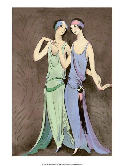 Art Deco Fashion, The Girlfriends, 1922-Anni Offterdinger-Art Print