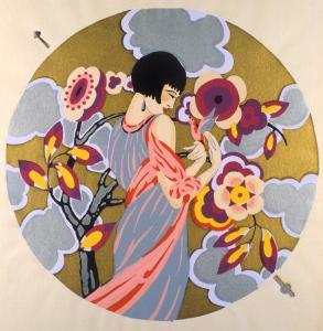 Art Deco Female in a Circle