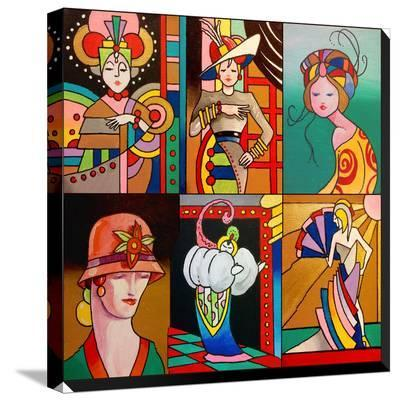 Art Deco Ladies 8-Howie Green-Stretched Canvas Print
