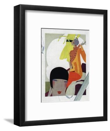Art Deco Ladies Talking--Framed Giclee Print