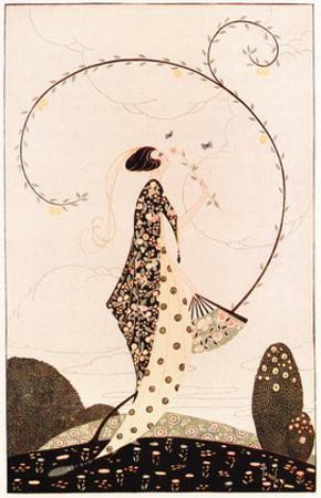 Art Deco lady with Fan