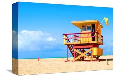 Art Deco Lifeguard House Miami--Stretched Canvas Print