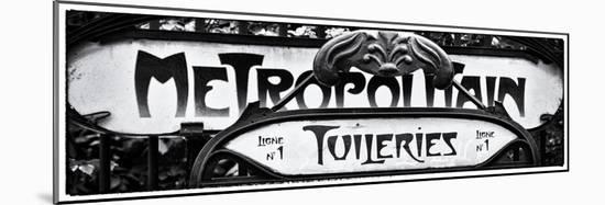 Art Deco Metropolitain Sign, Metro, Subway, the Tuileries Station, Paris, France-Philippe Hugonnard-Mounted Photographic Print