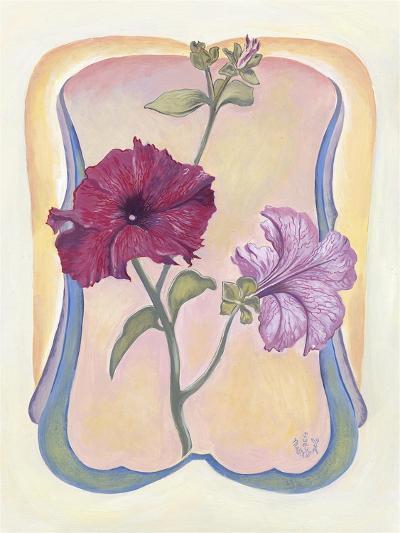 Art Deco Petunias-Judy Mastrangelo-Giclee Print