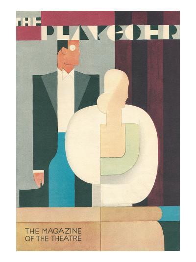 Art Deco Playgoer Magazine Cover--Art Print