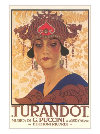 Art Deco Poster for Turandot--Art Print