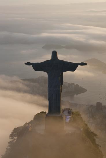 Art Deco Statue of Jesus, Corcovado Mountain, Rio de Janeiro, Brazil-Peter Adams-Photographic Print