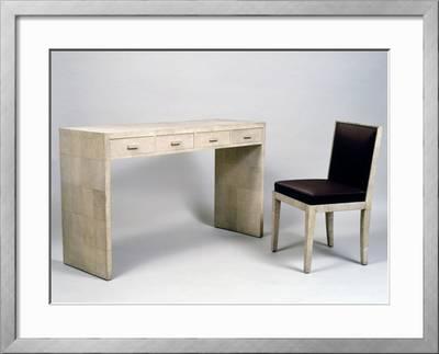 Art Deco Style Desk And Chair 1920 1930 Giclee Print Jean Michel Frank Art Com