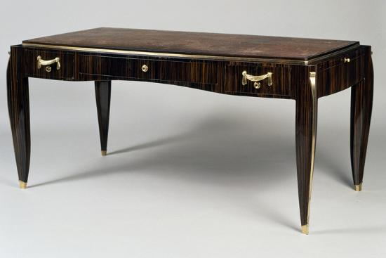 Art Deco Style Writing Desk Ambassade 25 Model 1933 Giclee Print Jacques Emile Ruhlmann Art Com