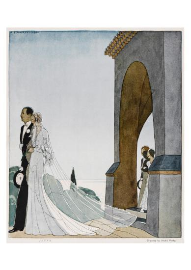 Art Deco Wedding--Art Print