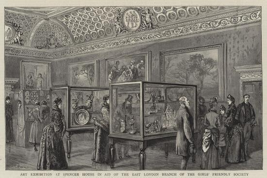 Art Exhibition at Spencer House in Aid of the East London Branch of the Girls' Friendly Society--Giclee Print