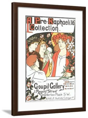 Art Exhibition Poster, London--Framed Art Print