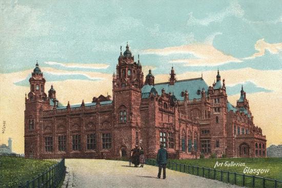 'Art Galleries, Glasgow', c1904-Unknown-Giclee Print