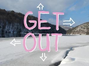 Adirondack Get Out by Art Licensing Studio