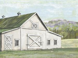 Field Barn in Spring by Art Licensing Studio