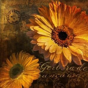 Golden Gerbera IV by Art Licensing Studio