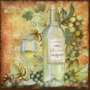 Grapevine and Wine White by Art Licensing Studio