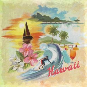 Hawaii Paradise Pattern by Art Licensing Studio