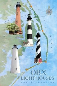 OBX Lighthouses by Art Licensing Studio