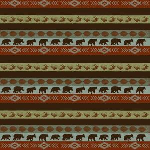 Stripe Pine and Bears by Art Licensing Studio