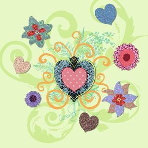 Swirling Big Heart by Art Licensing Studio