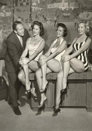Art Linkletter with Bathing Beauties