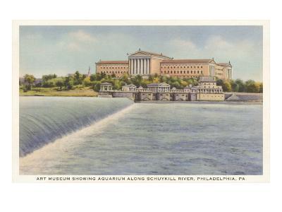 Art Museum, Schuylkill River, Philadelphia, Pennsylvania--Art Print