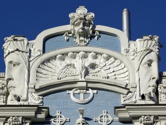 Art Nouveau Architecture, 10B Elizabetes Iela, Designed by Mikhail Eisenstein, Riga, Latvia-Gary Cook-Photographic Print