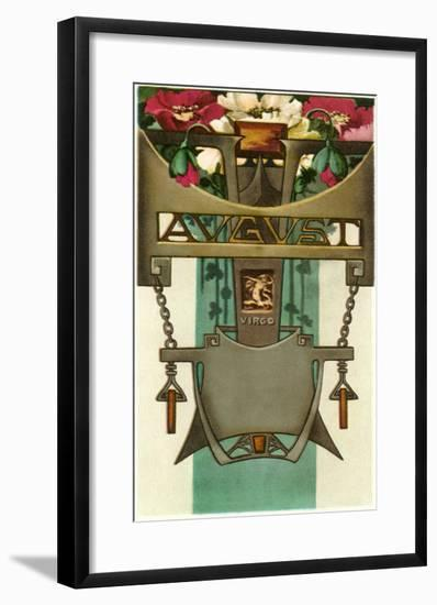 Art Nouveau August, Virgo--Framed Art Print