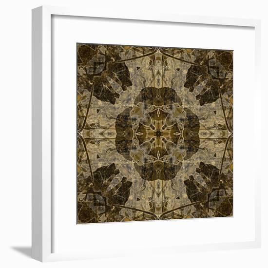 Art Nouveau Colorful Ornamental Vintage Pattern in Brown Color-Irina QQQ-Framed Premium Giclee Print