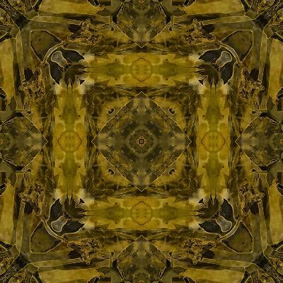 Art Nouveau Colorful Ornamental Vintage Pattern in Gold and Green Colors-Irina QQQ-Art Print