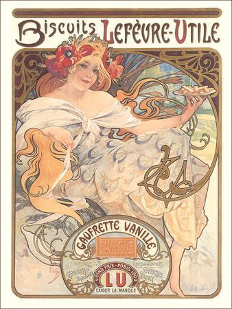 Art Nouveau Cookie Ad-Found Image Press-Art Print