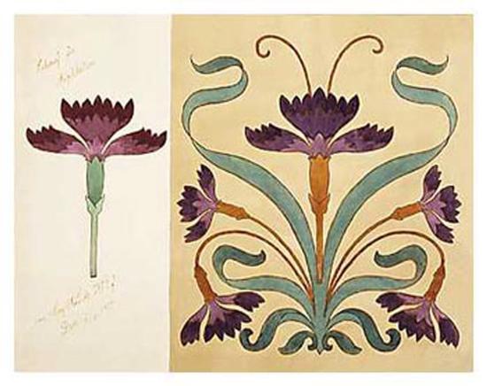 art nouveau designs art print by art com