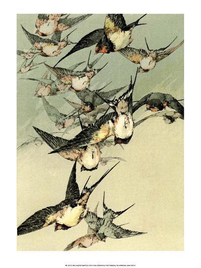 Art Nouveau Flight of Birds, Plate 5-Jules-Auguste Habert-Dys-Art Print