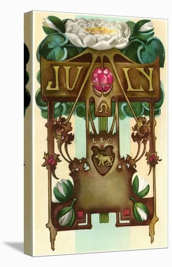 Art Nouveau July, Leo--Stretched Canvas Print