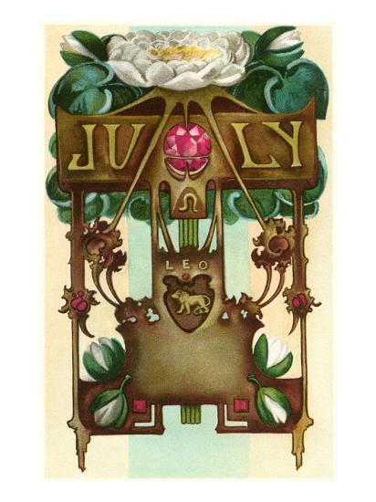 Art Nouveau July, Leo--Art Print