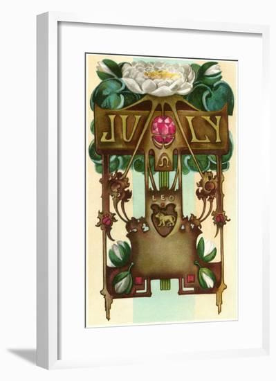 Art Nouveau July, Leo--Framed Art Print