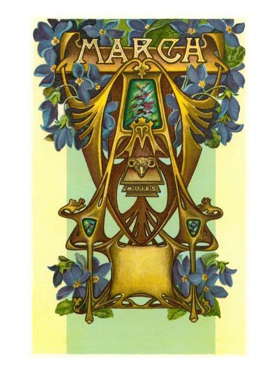 Art Nouveau March, Aries--Art Print