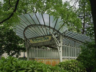 Art Nouveau Metro Entrance, Paris, France, Europe-Nigel Francis-Photographic Print