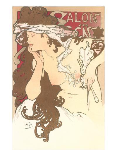 Art Nouveau Semi-Nude--Art Print