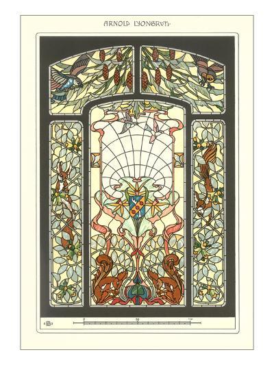 Art Nouveau Stained Glass--Art Print