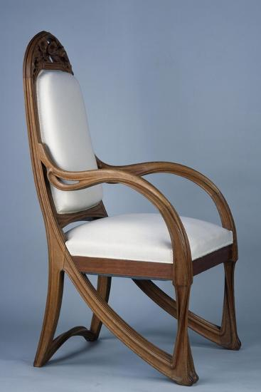 Art Nouveau Style Armchair Created For Universal Exhibition Of 1900 Part Dining Room Set Giclee Print By Louis Majorelle