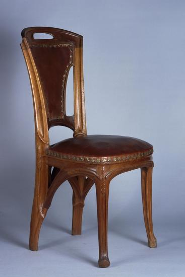 Art Nouveau Style Chair, 1900-Eugene Vallin-Giclee Print