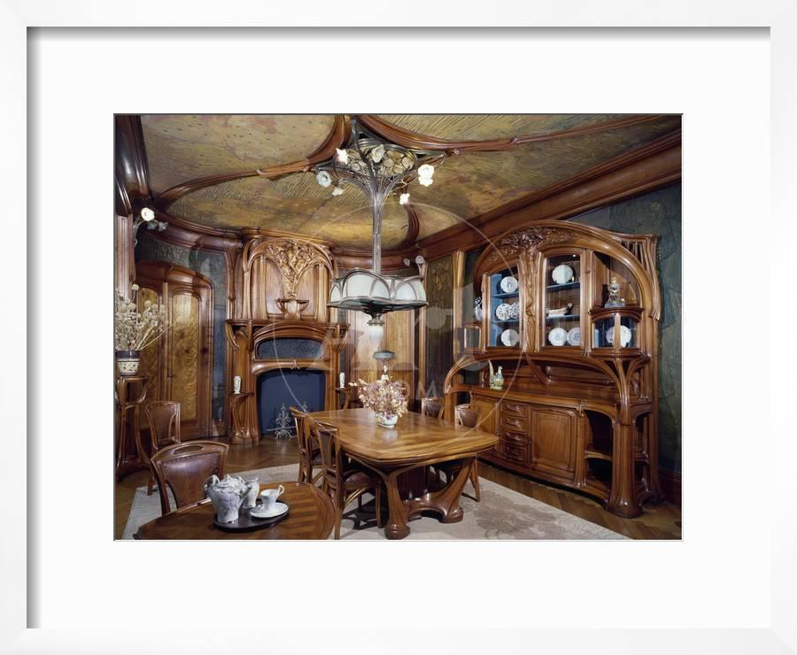 Art Nouveau Style Dining Room 1903 1906By Eugene Vallin