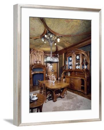 Art Nouveau Style Dining Room, 1903-1906-Eugene Vallin-Framed Giclee Print