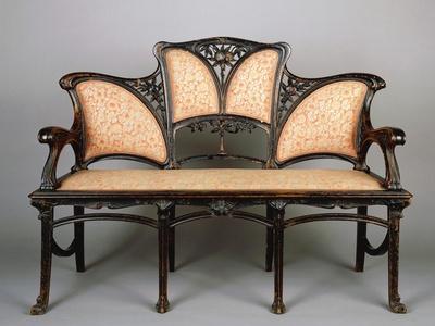Marvelous Art Nouveau Style Sofa, Italy Giclee Print By   Art.com