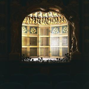 Art Nouveau-Style Stage in Tabarin Hall of Central Cinema, 1923-1924, Sanremo, Liguria, Italy
