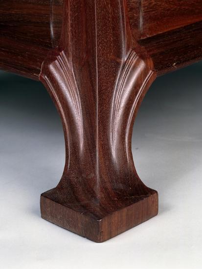 Art Nouveau Style Three-Tier Pedestal Table, Ca 1910-Eugene Vallin-Giclee Print