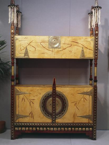 Art Nouveau Style Two Tier Piece of Furniture, 1902-Carlo Bugatti-Giclee Print